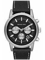 Michael Kors Chronograph Black Dial Black Leather MK8310 Men's Watch