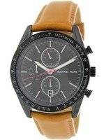 Michael Kors Accelerator Chronograph Tan Leather Strap MK8385 Men's Watch