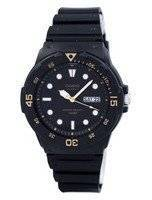Casio Quartz Analog 100M Black Resin Strap MRW-200H-1EVDF MRW200H-1EVDF Men's Watch