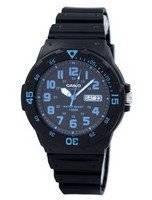 Casio Quartz 100M Analog Black Dial MRW-200H-2BVDF MRW200H-2BVDF Men's Watch