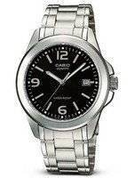 Casio Quartz Analog Black Dial Stainless Steel MTP-1215A-1A2DF MTP-1215A-1A2 Men's Watch