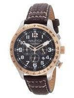 Nautica Chronograph Brown Leather N16593G Men's Watch