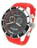 Nautica Chronograph Sporty Red Resin Band N17584G