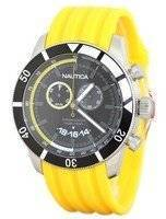 Nautica Chronograph Sporty Yellow Resin Band N17587G Men's Watch