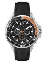 Nautica Multifunction Black Resin Strap N17612G Men's Watch