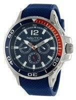 Nautica Multifunction Blue Resin Strap N17613G Men's Watch