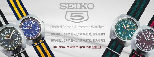 Newsletter Seiko 5 Sports Limited Edition Automatic