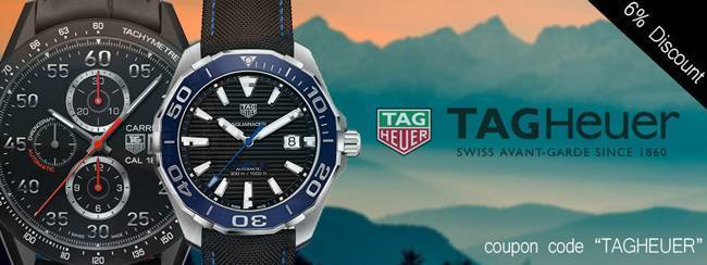 Newsletter tag heuer watches on sale discount coupon inside mad about watches for Tag heuer discount