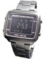 Seiko Spirit Solar Radio Wave Control World Time SBFG003 Mens Watch