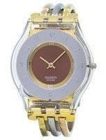 Swatch Skin Tri Gold Quartz SFK240B Women's Watch