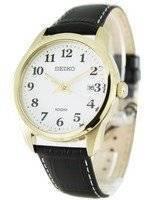 Seiko Leather Strap White Easy Reader Dial SGEG18P1 SGEG18P Mens Watch