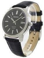 Seiko Quartz Sapphire Black Dial SGEH19P1 SGEH19P Men's Watch
