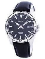 Seiko Quartz Sapphire Glass Black Dial SGEH65 SGEH65P1 SGEH65P Men's Watch