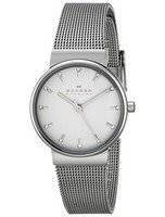 Skagen Ancher Silver Dial Crystal Stainless Steel Mesh Bracelet SKW2195 Women's Watch
