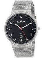 Skagen Denmark Black Dial Mesh Band SKW6051 Men's Watch