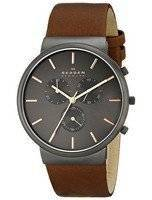 Skagen Ancher Chronograph Brown Leather SKW6106 Men's Watch