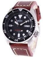 Seiko Automatic Diver's Ratio Brown Leather SKX007J1-LS1 200M Men's Watch