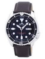 Relógio rácio couro marrom escuro SKX007J1-LS11 200M masculino do Seiko Automatic Diver