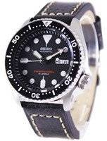 Seiko Automatic Diver's Ratio Black Leather SKX007J1-LS2 200M Men's Watch