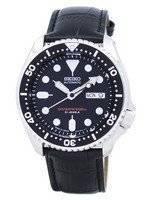 Relógio rácio couro preto SKX007J1-LS6 200M masculino do Seiko Automatic Diver