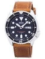 Relógio rácio couro marrom SKX007J1-LS9 200M masculino do Seiko Automatic Diver