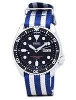 Relógio 200m da OTAN correia SKX007J1-NATO2 masculino do mergulhador Seiko automático