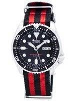 Relógio 200m da OTAN correia SKX007J1-NATO3 masculino do mergulhador Seiko automático