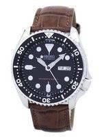 Relógio 200m relação couro marrom SKX007K1-LS7 masculino do mergulhador Seiko automático