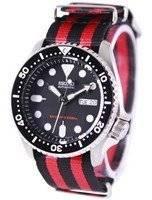 Relógio 200m da OTAN correia SKX007K1-NATO3 masculino do mergulhador Seiko automático