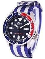 Relógio 200m da OTAN cinta SKX009K1-NATO2 masculino do mergulhador Seiko automático