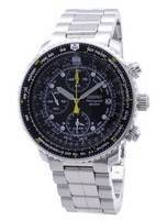 Seiko Pilot's Flight Alarm Chronograph SNA411 SNA411P1 SNA411P Men's Watch