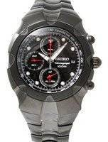 Seiko Chronograph Black Dial Alarm Chronograph  Watch SNA765P1