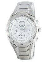 Seiko Titanium Chronograph Quartz Alarm Tachymeter SNAB87 SNAB87P1 SNAB87P Men's Watch