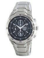 Seiko Titanium Chronograph Quartz Alarm Tachymeter SNAB91 SNAB91P1 SNAB91P Men's Watch