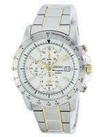 Reloj de cuarzo Seiko alarma cronógrafo taquímetro SNAC51 SNAC51P1 SNAC51P de los hombres