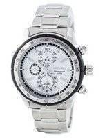 Reloj de cuarzo Seiko alarma cronógrafo taquímetro SNAC83 SNAC83P1 SNAC83P de los hombres