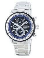 Reloj de cuarzo Seiko alarma cronógrafo taquímetro SNAC85 SNAC85P1 SNAC85P de los hombres