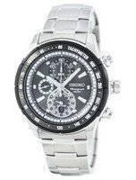 Reloj de cuarzo Seiko alarma cronógrafo taquímetro SNAC89 SNAC89P1 SNAC89P de los hombres