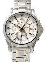 Seiko Premier Chronograph Alarm Watch SNAD28P1 SNAD28P SNAD28