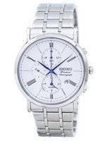 Relógio Seiko Premier cronógrafo alarme quartzo SNAF73 SNAF73P1 SNAF73P dos homens