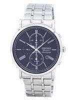 Relógio Seiko Premier cronógrafo alarme quartzo SNAF75 SNAF75P1 SNAF75P dos homens