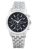 Seiko Sports Chronograph Black Dial SNDC09 SNDC09P1 SNDC09P Men's Watch