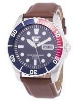 Seiko 5 Sports Automatic Ratio Brown Leather SNZF15K1-LS12 Men's Watch