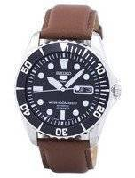 Seiko 5 Sports Automatic 23 Jewels Ratio Brown Leather SNZF17J1-LS12 Men's Watch