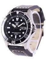 Seiko 5 Sports Automatic Ratio Black Leather SNZF17K1-LS2 Men's Watch