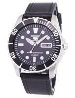 Seiko 5 Sports Automatic Ratio Black Leather SNZF17K1-LS8 Men's Watch