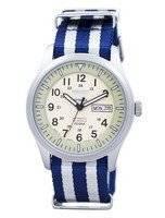 Seiko 5 Sports militar automático Japão fez relógio NATO correia SNZG07J1-NATO2 masculino