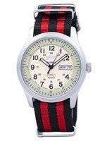 Seiko 5 Sports militar automático Japão fez relógio NATO correia SNZG07J1-NATO3 masculino