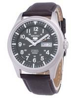 Seiko 5 Sports Automatic Japan Made Ratio Dark Brown Leather SNZG09J1-LS11 Men's Watch