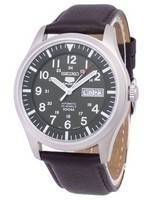 Seiko 5 Sports Automatic Ratio Dark Brown Leather SNZG09K1-LS11 Men's Watch